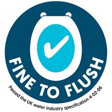 'Fine to Flush' logo