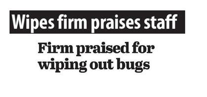 Nice-Pak headlines